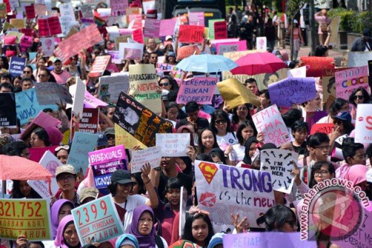 Women's March Jakarta 2018 desak penghapusan kekerasan berbasis gender