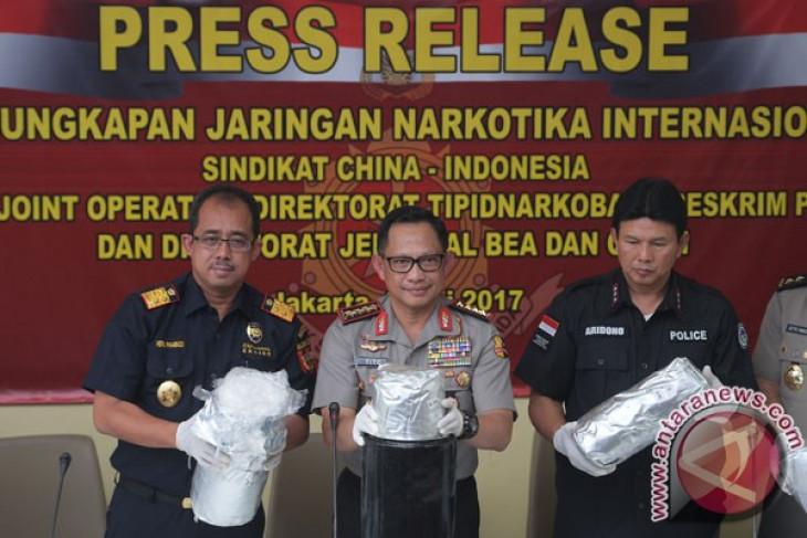 Bareskrim-Bea Cukai ungkap kasus penyelundupan sabu asal Tiongkok