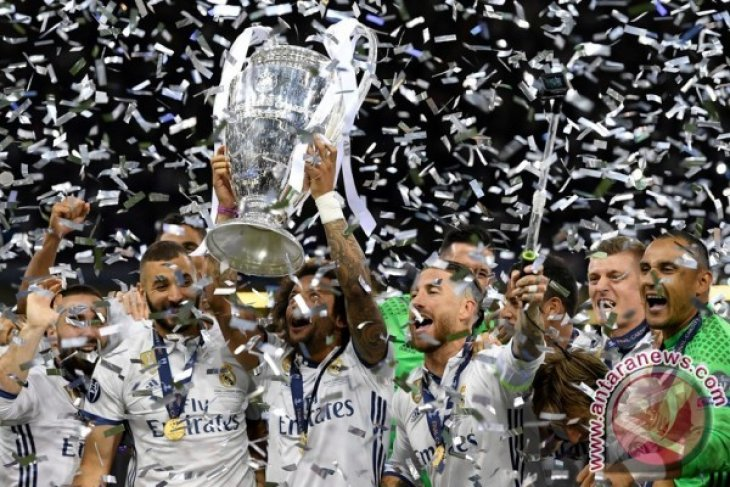 Real Madrid tantang Manchester United di Piala Super Eropa