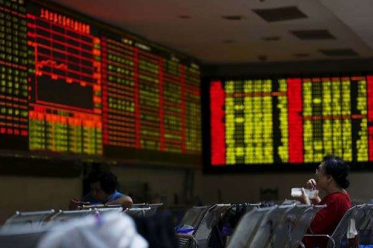 Bursa saham China bervariasi
