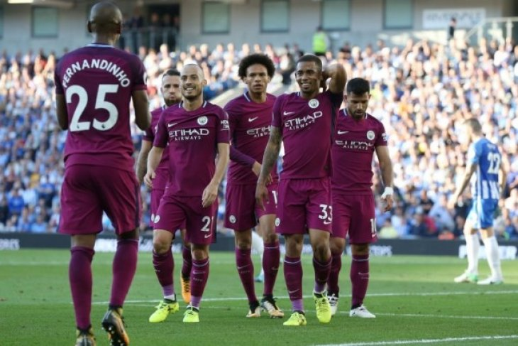 City menang meyakinkan 2-0 atas Brighton