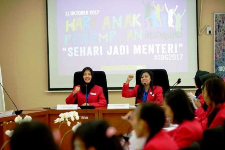 Remaja Sumatera Utara coba jadi menteri sehari