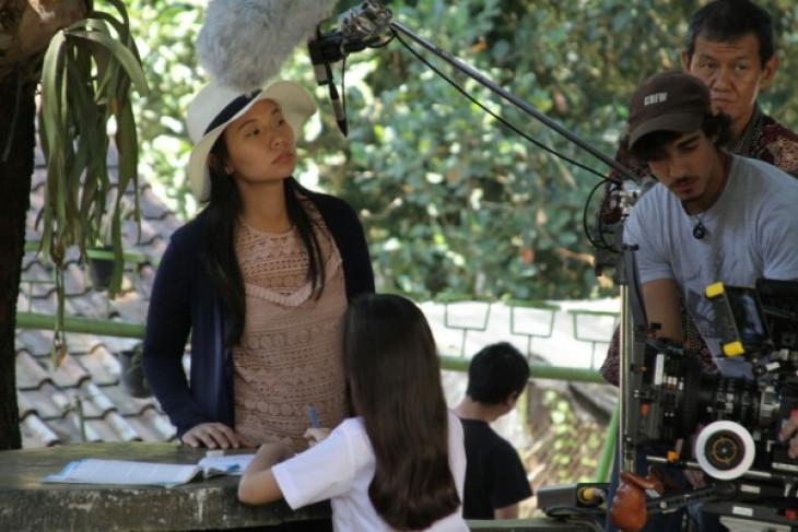 Livi saat menyutradarai filmnya   Antaranews/Handout