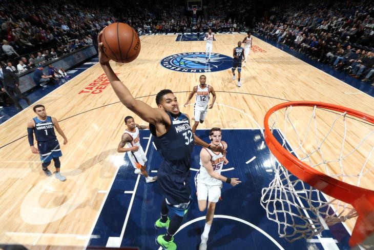 NBA hari ini, momen spesial karir Karl-Anthony Towns