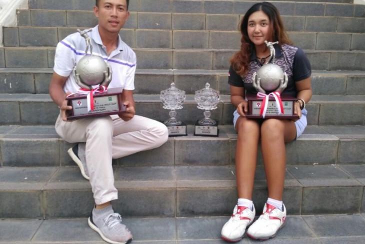 Rizchy-Rivani juara Menpora-Emeralda Golf Cup 2017