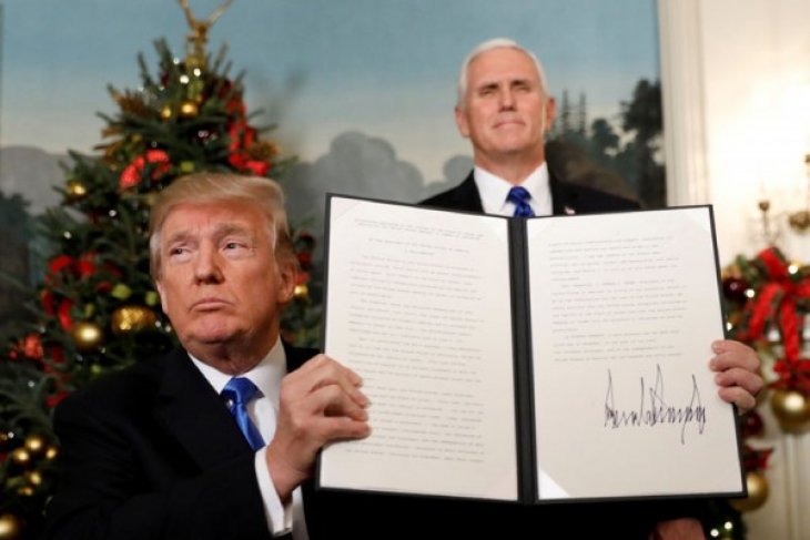Trump akui Yerusalem sebagai ibu kota Israel