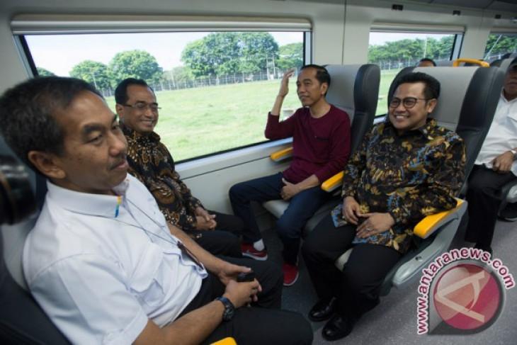 Jokowi ajak Cak Imin resmikan KA Bandara Soekarno-Hatta