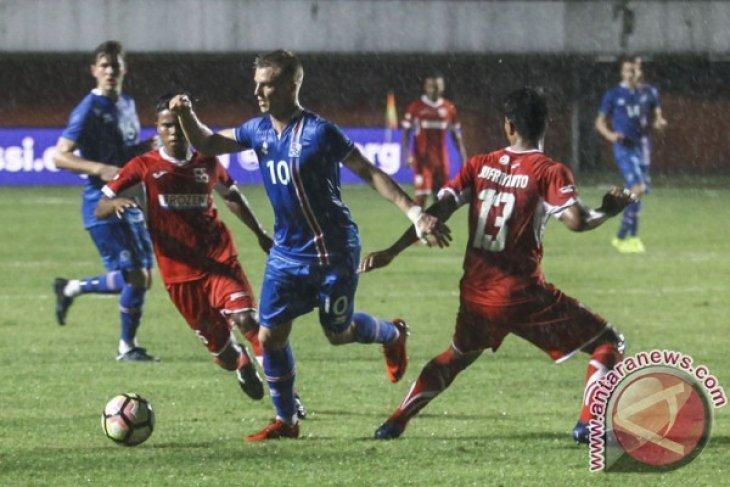 Indonesia tahan imbang Eslandia 1-1 babak pertama