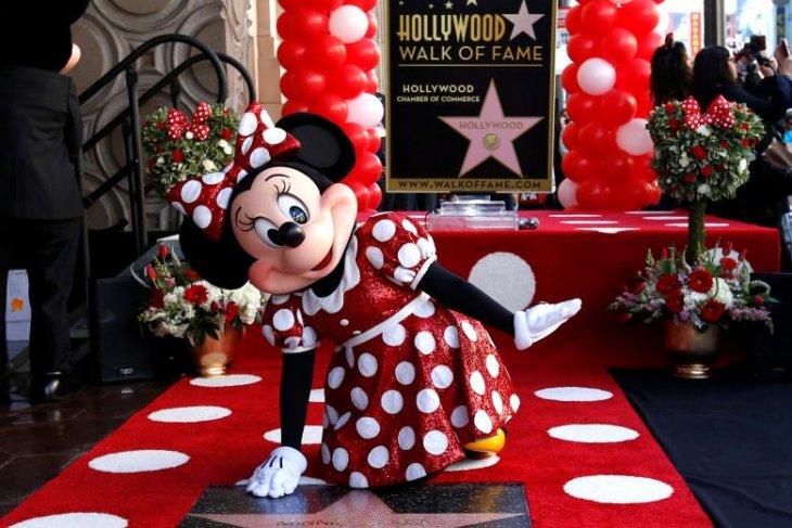 Setelah 90 tahun, Minnie Mouse dapatkan bintang Hollywood Walk of Fame
