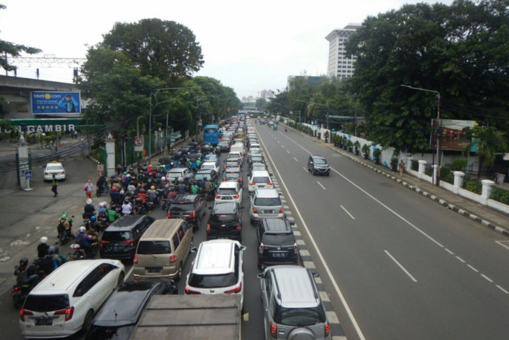 Sejumlah ruas jalan di Jakpus macet parah