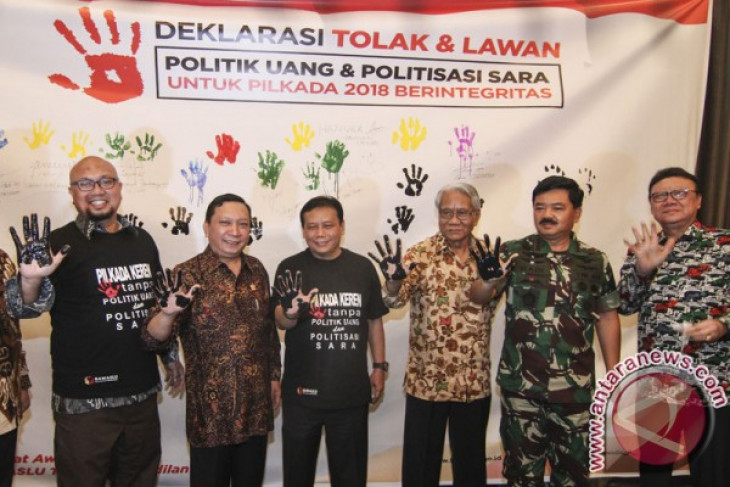 Tiga daerah deklarasi tolak politik uang