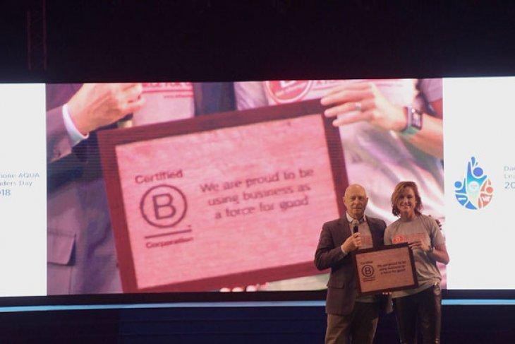 Danone-AQUA jadi perusahaan FMCG pertama terima sertifikasi B-Corp