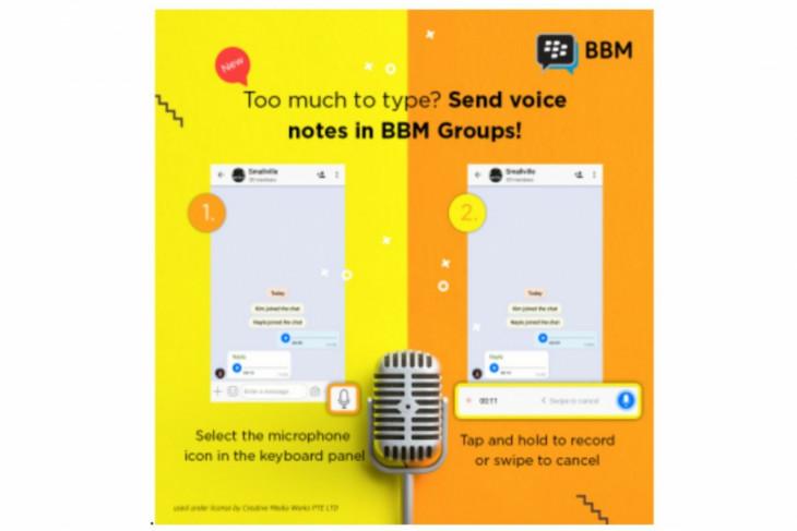 BBM rilis versi terbaru, berfitur pesan suara hingga lini masa