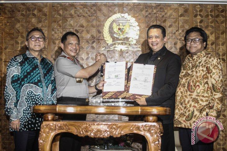 DPR-Polri sepakati kesepahaman pengamanan kompleks parlemen