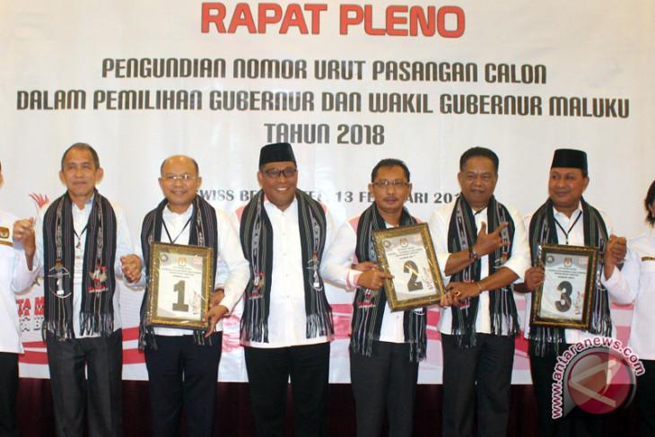 Pengundian Nomor Urut Pilgub Maluku