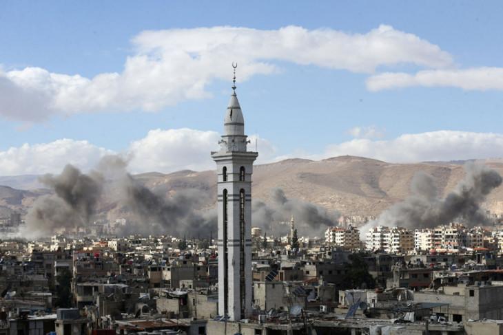 Suriah memecah kantung petempur di Ghouta