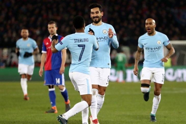 Manchester City satu kaki di perempatfinal usai gunduli Basel 4-0