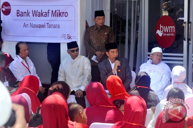 Presiden luncurkan Bank Wakaf Mikro Tanara