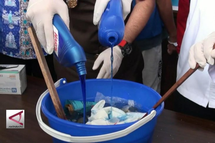 Aparat Kalteng musnahkan barbuk narkotika dari  Malaysia