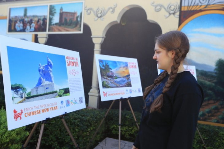 The Sanya Chinese new year photo exhibition held at Los Angeles, California