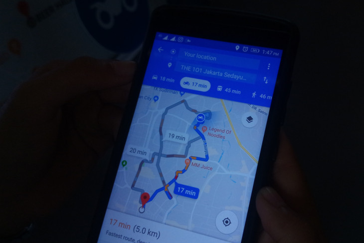 Cara pakai Google Maps untuk motor (video)