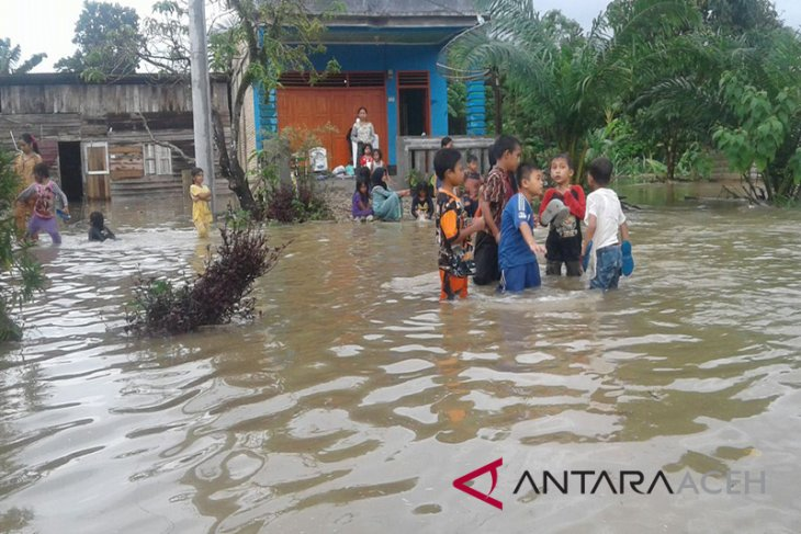 Banjir di Subulussalam akibat sungai meluap