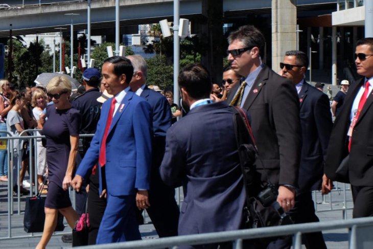 Presiden santap siang di Admiralty House Sydney