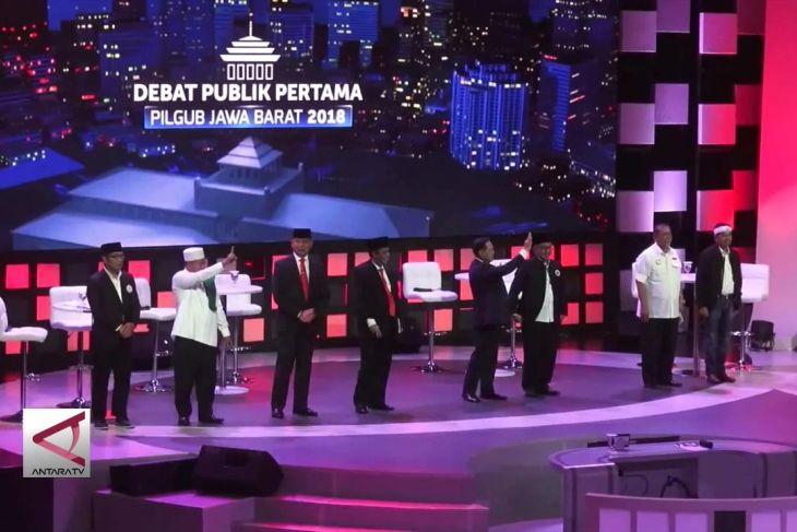 Debat pertama Pilgub Jabar 2018