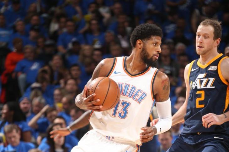 George-Westbrook borong 65 poin, Thunder kalahkan Jazz 116-108