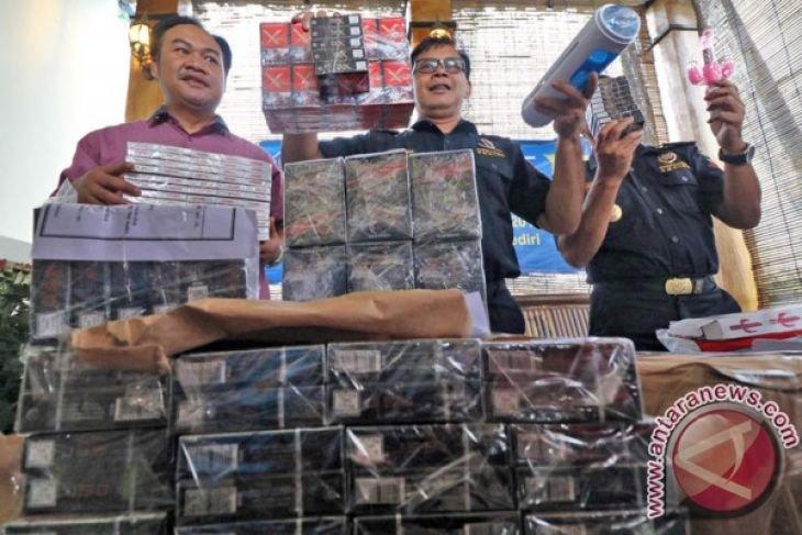 Penyelundupan 1,5 juta batang rokok ilegal digagalkan