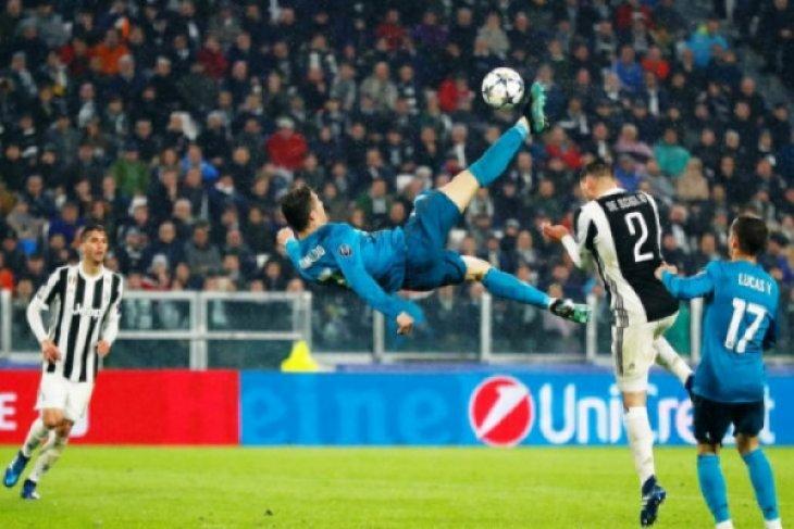 Gol salto akrobatik Ronaldo disambut hangat suporter Juventus