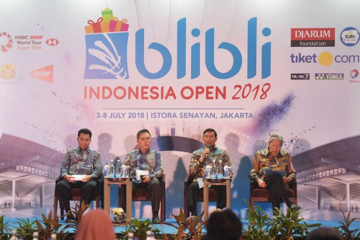 Konferensi pers Indonesia Open 2018