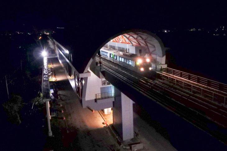Uji coba LRT Palembang
