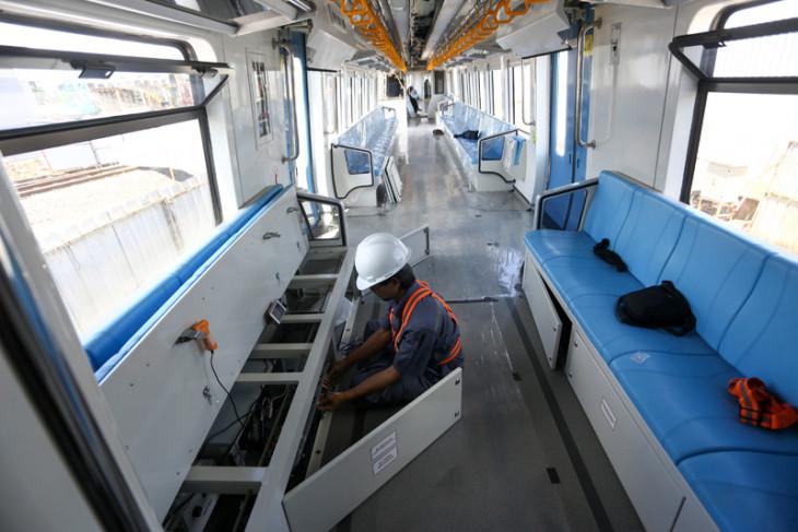 Persiapan Uji Coba LRT Palembang