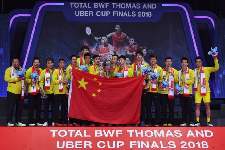 Cina raih Piala Thomas 2018