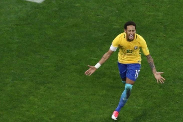 Neymar cetak gol saat Brazil kalahkan Kroasia