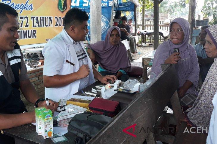 Polisi Aceh Timur gelar pengobatan gratis