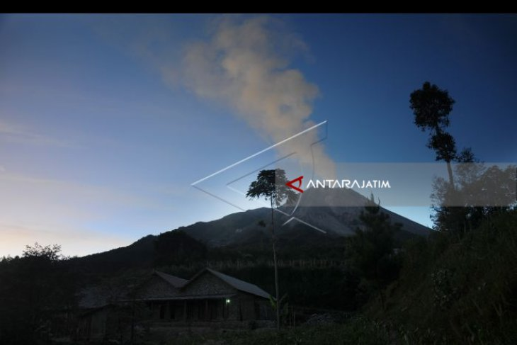Awan panas Merapi meluncur 950 meter