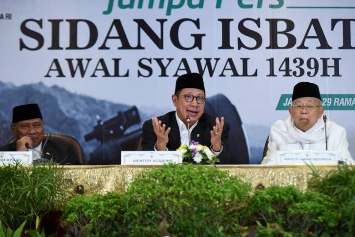 Sidang Isbat Satu Syawal 1439 Hijriah
