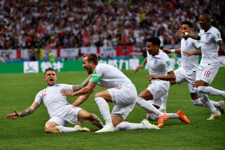 Inggris memimpin 1-0 atas Kroasia berkat tendangan bebas Trippier