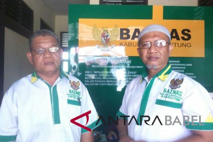 Baznas Belitung himpun zakat Rp787,5 juta
