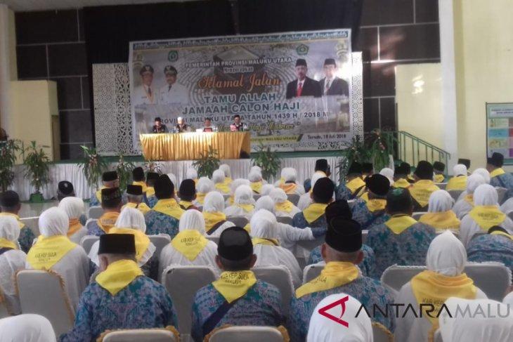 JCH Malut kloter 7 berangkat ke embarkasi Makassar