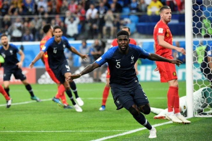 Prancis ke final Piala Dunia di Rusia 2018