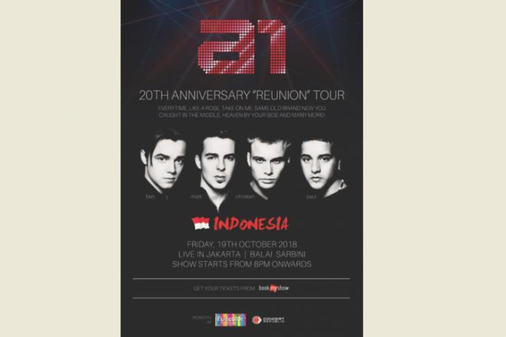 Boy group  a1 siap gelar konser reuni di Jakarta