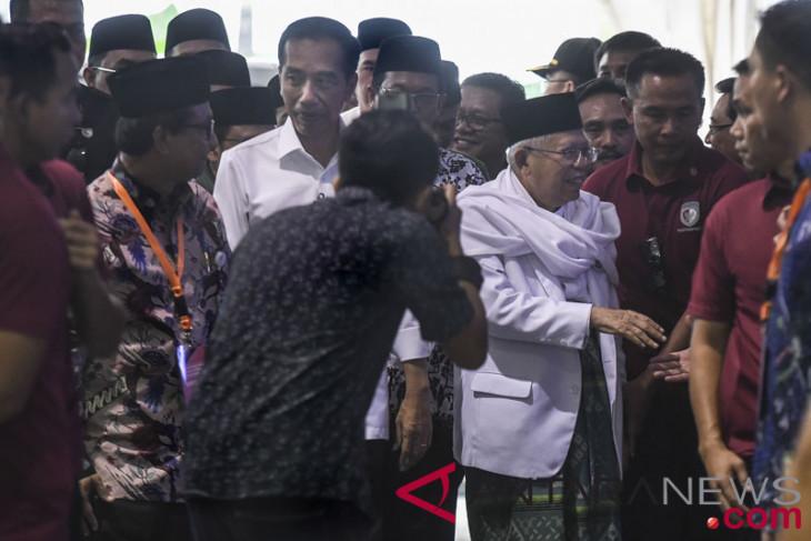 Jokowi-Ma'ruf tiba di KPU pukul 09.28 WIB