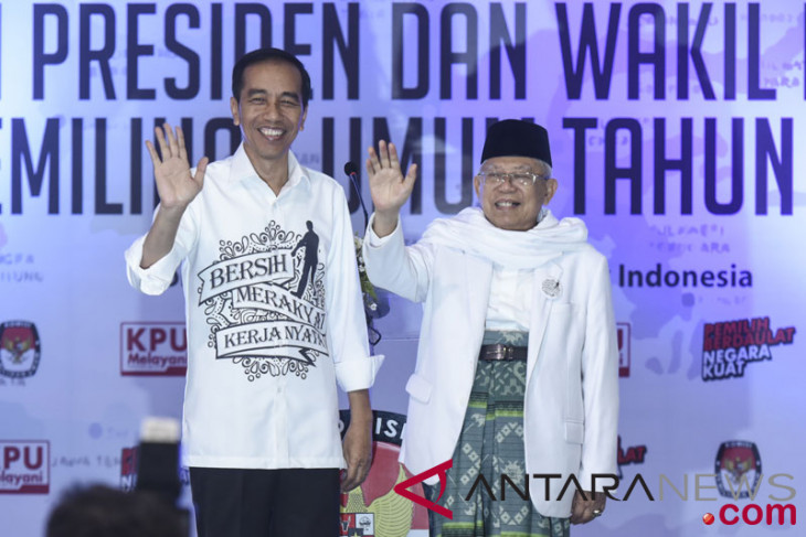 Relawan : Kehadiran Ma'ruf tepis Jokowi anti Islam