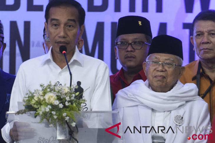 Jokowi-Maruf Amin Mendaftar Ke KPU