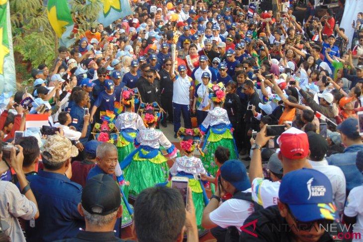 Obor Asian Games tiba di RPTRA Kalijodo