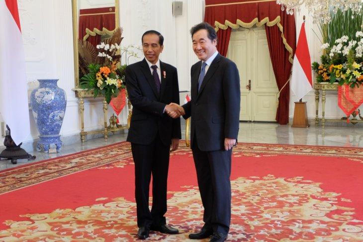 Presiden Jokowi terima PM Korsel di istana
