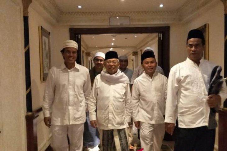 Laporan dari Mekkah - Ma`ruf Amin ajak NU berdoa untuk Indonesia